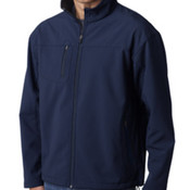 Men's UltraClub® Adult Soft Shell Jacket with Cadet Collar