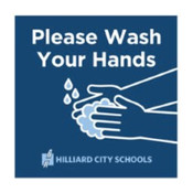 "Please Wash Your Hands Wall Decals 12"" x 12"" square"