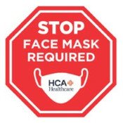 "Stop Face Mask Required Wall Decals 12"" x 12"" Octagon"