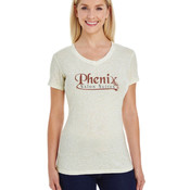 Ladies' Glitter V-Neck T-Shirt